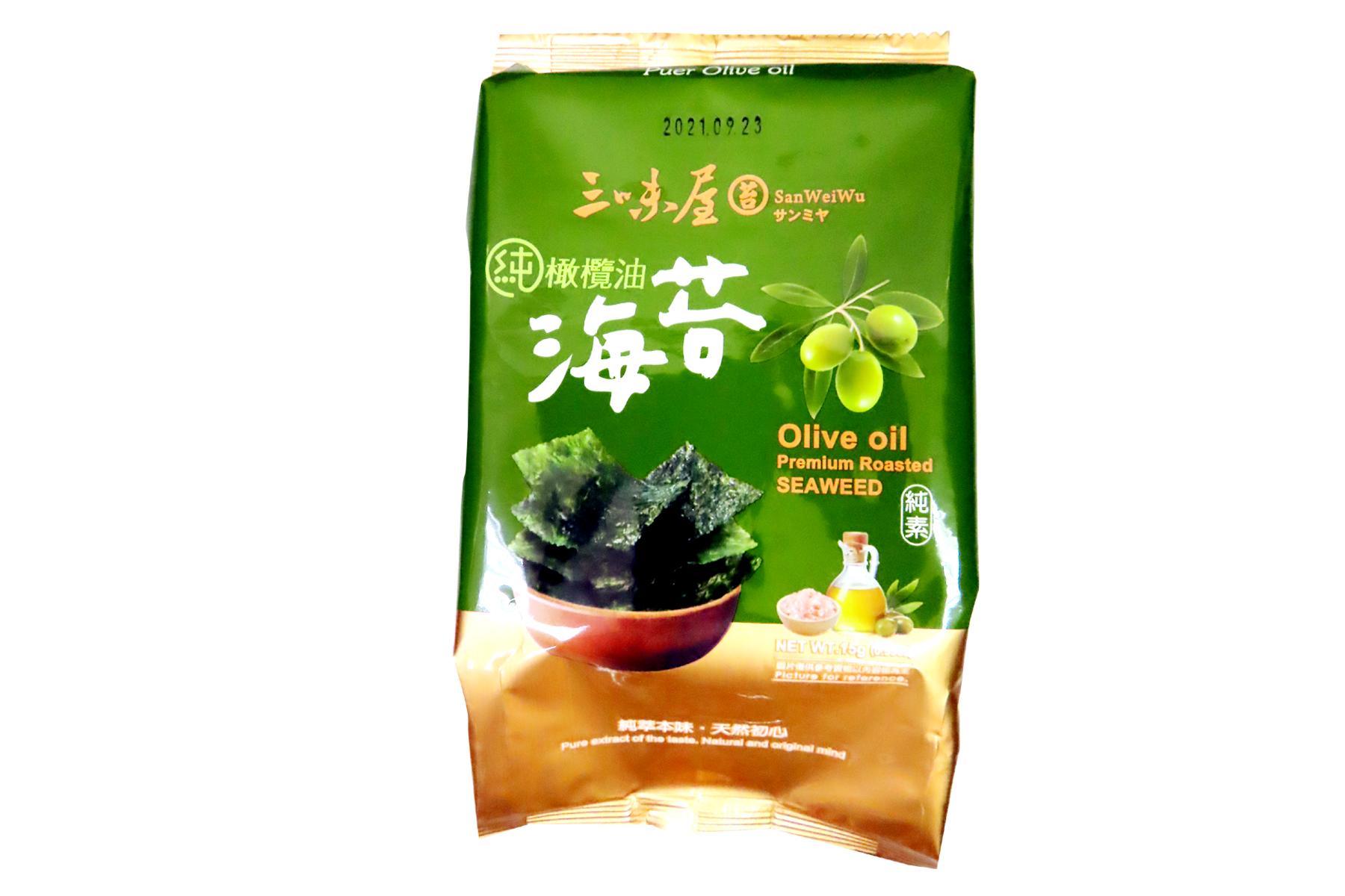 Image Olive Oil Premium Roasted Crispy Seaweed 三味屋-橄榄油海苔 15grams