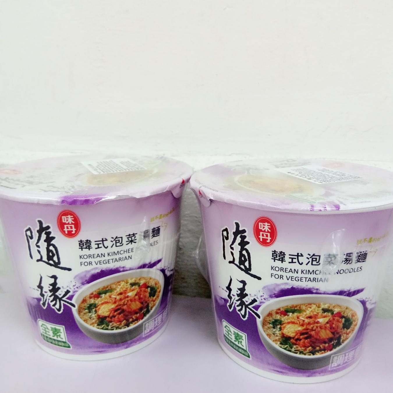 Image Vedan Kimchi Cup noodles 味丹 - 隨缘韩式泡菜杯面 60grams