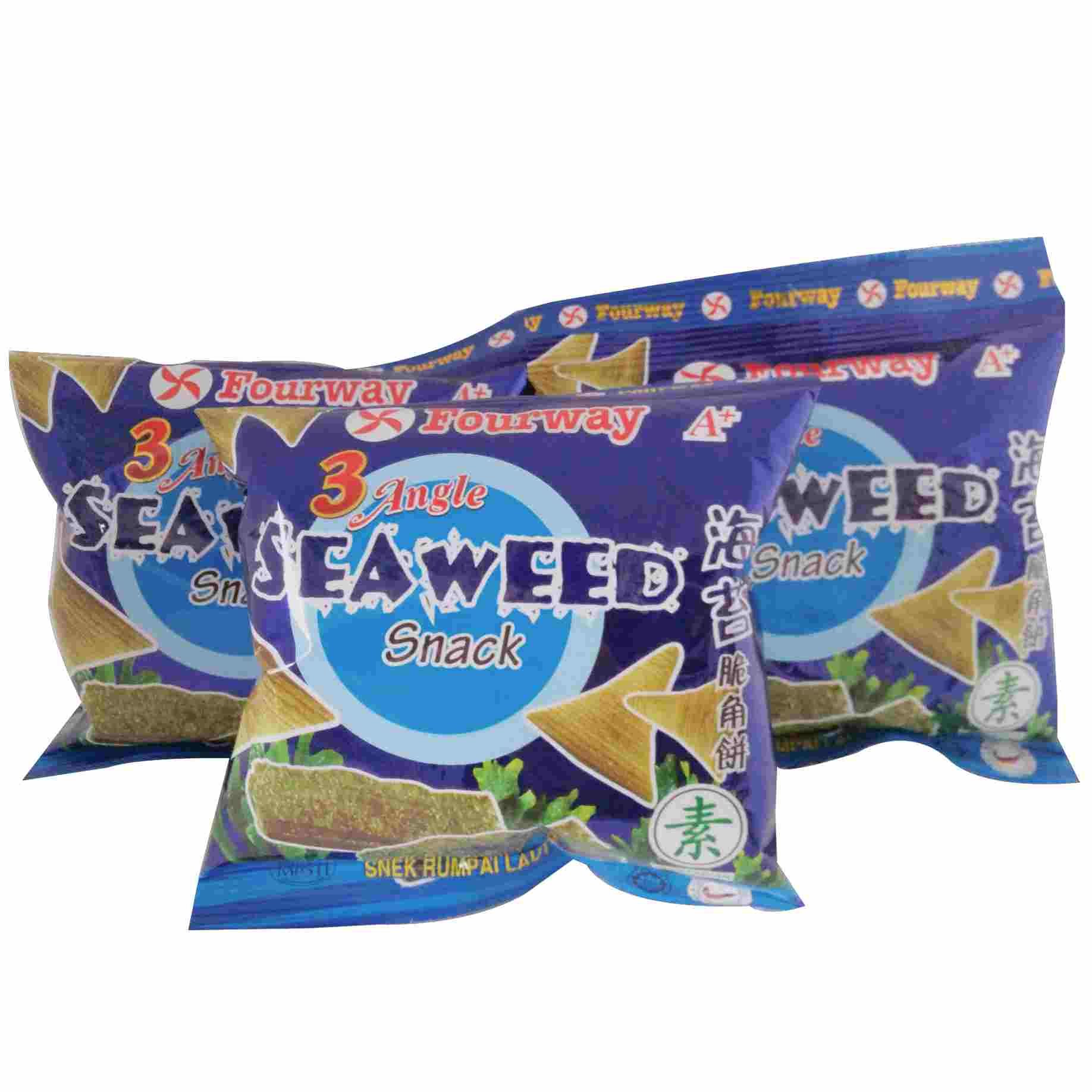 Image SEAWEED SNACK 海苔脆角饼 (3packets)75grams