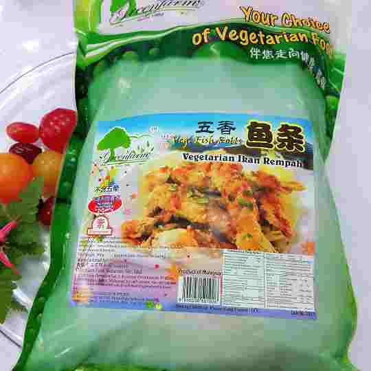 Image Veg Fish Roll 田园 - 五香鱼条 900grams