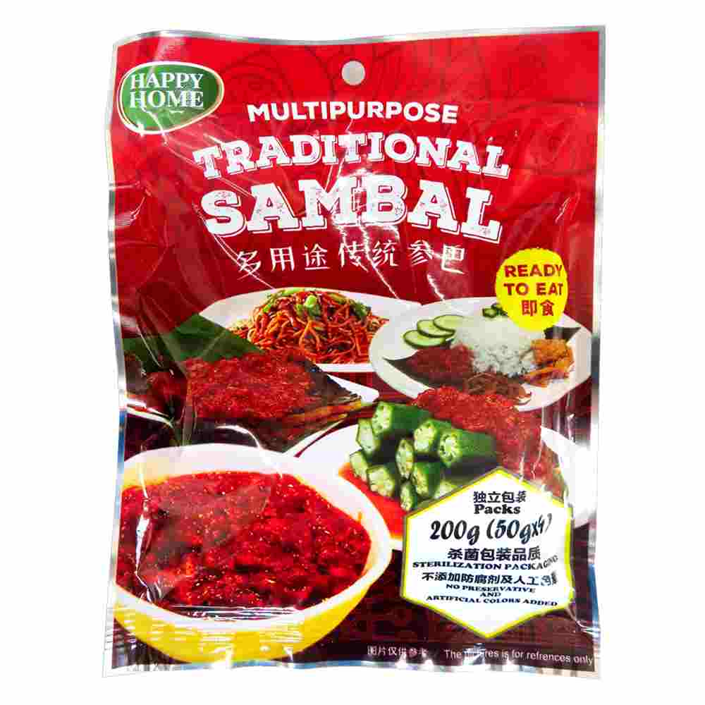 Image Happy Home Traditional Sambal 多用途传统参巴 (50g x 4)