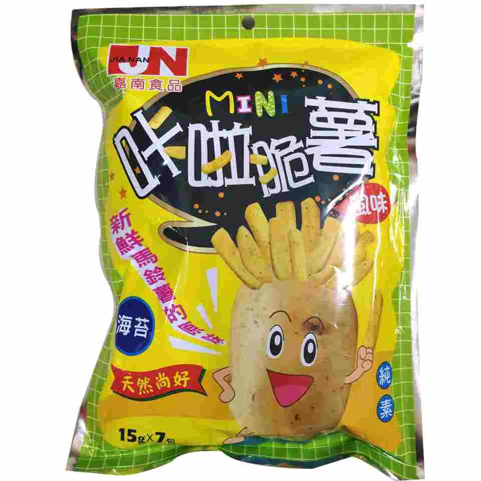 Image Mini Fries Seaweed 嘉南 - 咔啦脆薯海苔 (7pkt) 105grams