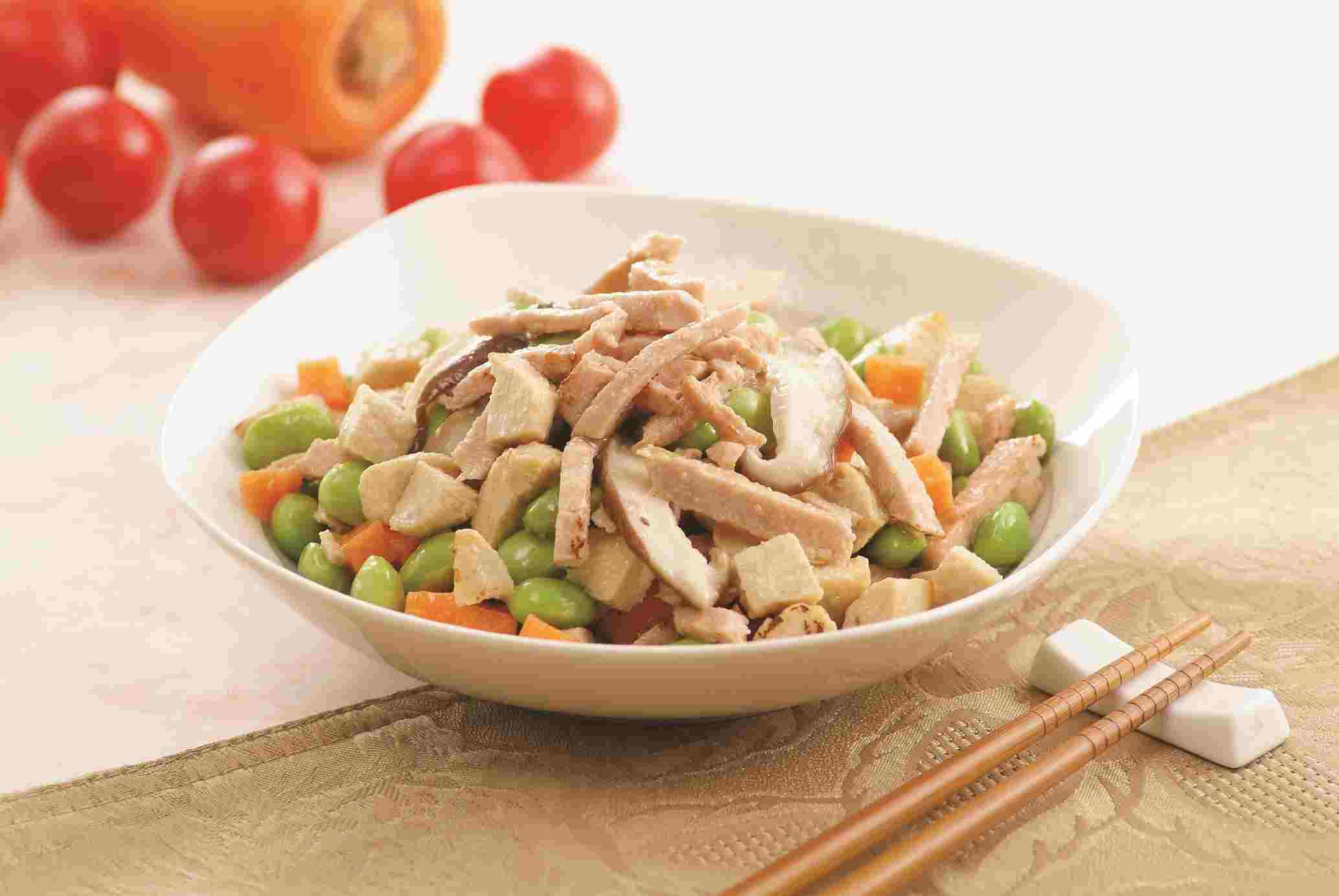 Image Veggie ham With Veg. Chicken Cube Stir- Fry
