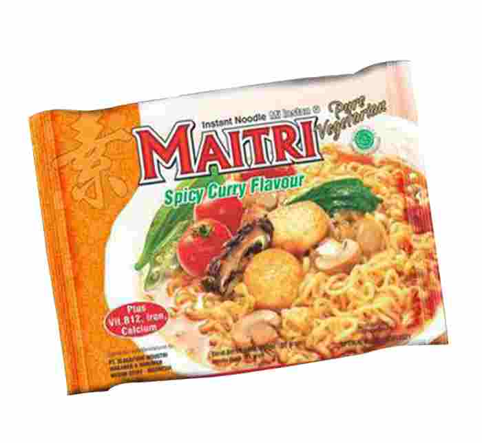 Image MAITRI Vegetarian Hot Curry Noodles - 良心 - 咖喱面 400 grams
