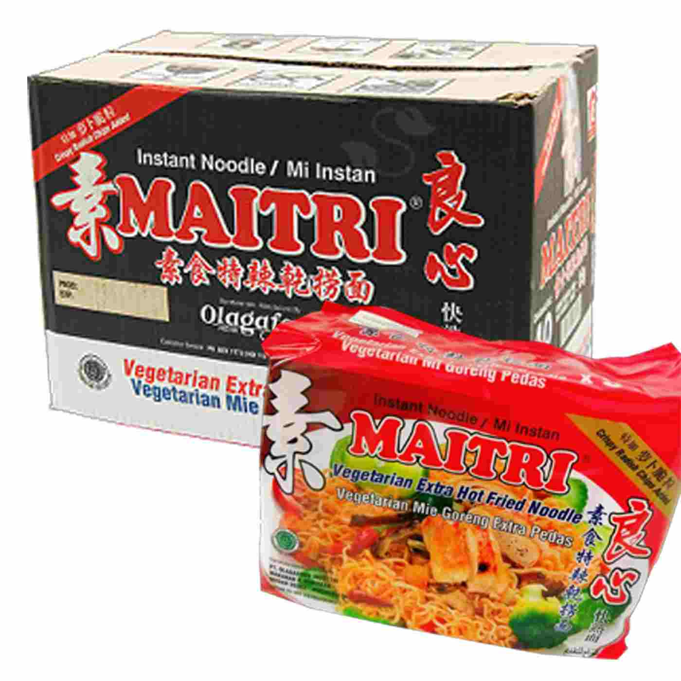 Image Maitri E/Hot Fried Noodle 良心 - 特辣干捞面 (400g x 8pkt) 3200grams
