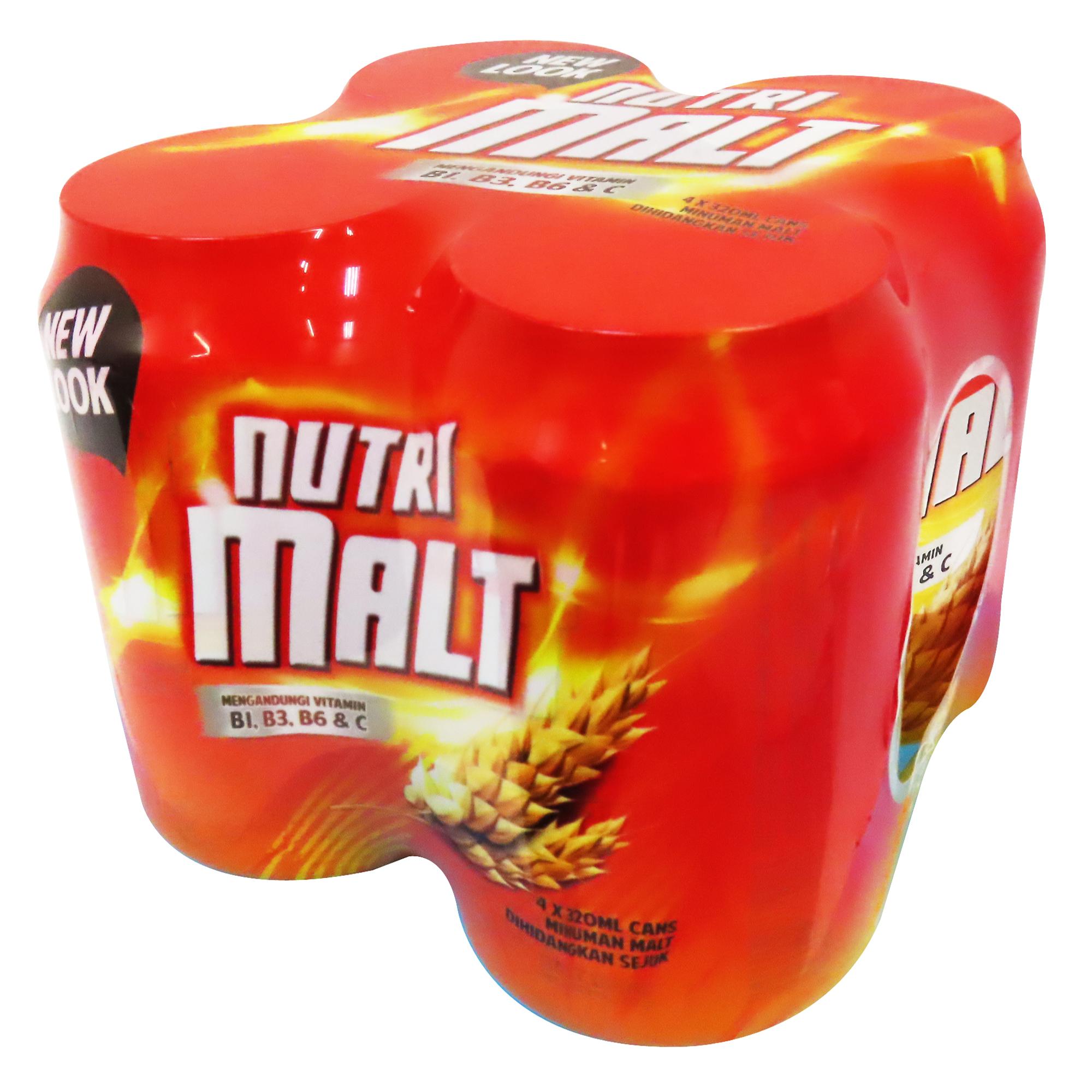 Image  4 IN 1 Nutri Malt 营养麦芽精 (4罐)1280grams