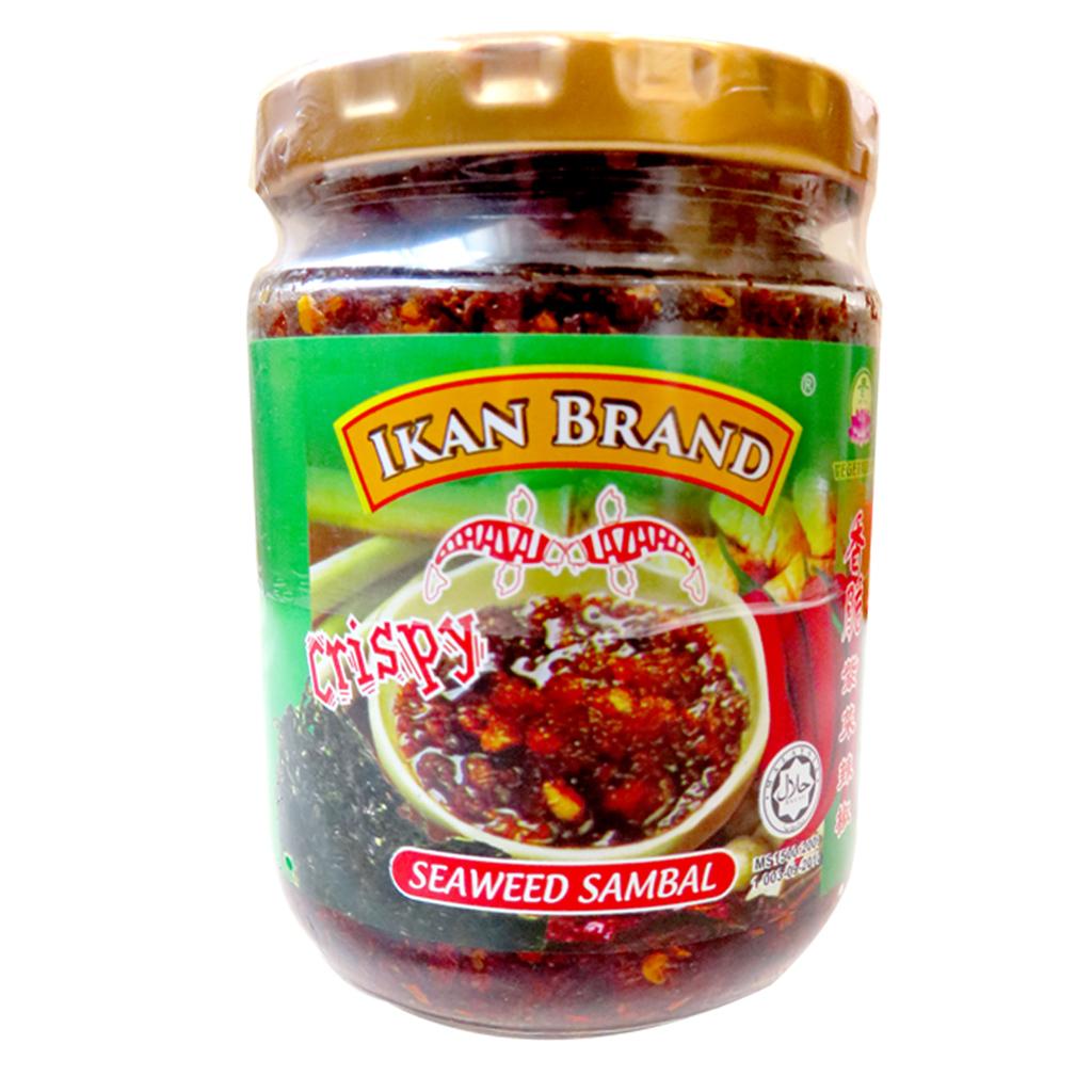 Image Ikan Brand Crispy Seaweed Sambal - 香脆紫菜辣椒 200 grams
