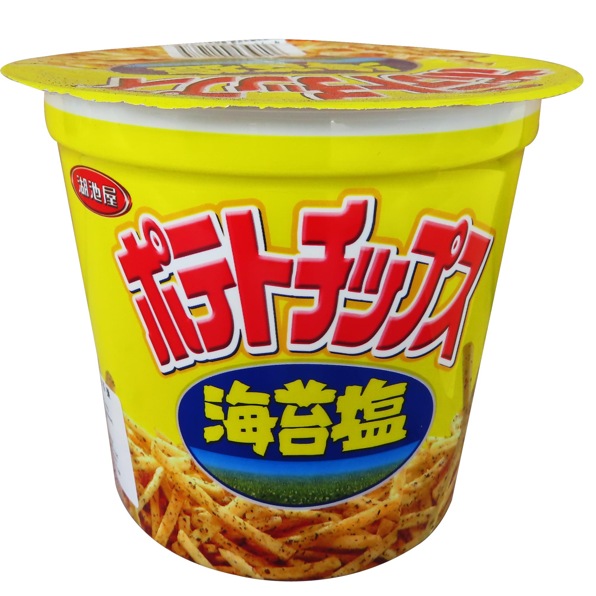 Image Koikeya Potato Fries 湖池屋 - 海苔盐薯条 /海苔盐洋芋条 (杯) 64grams