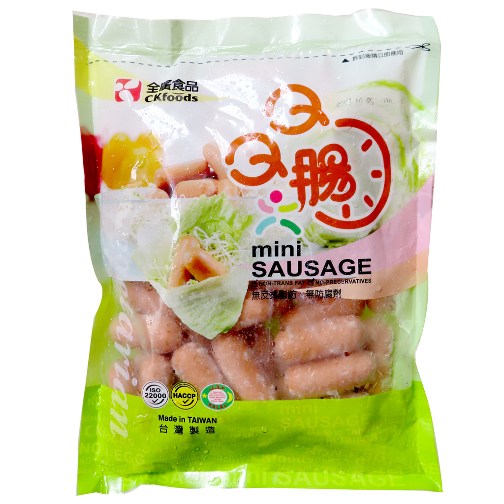 Image Vegetarian Smoking Mini Soy Sausage 全广-素烟熏QQ肠 500grams